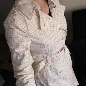 Express size s light weight plaid trench coat